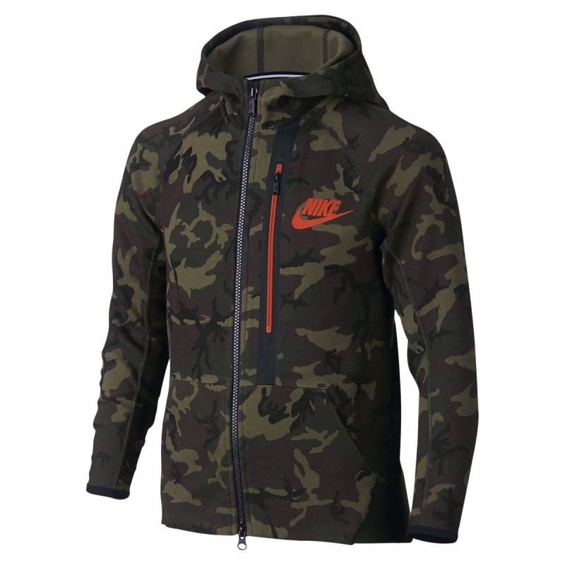eb37b2fa282c Sweat Nike Tech Fleece Allover Print Full-Zip Junior - 716805-355 ...
