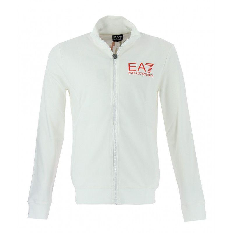 aa37dcefd5e5 Sweat EA7 Emporio Armani (Blanc) - Pegashoes