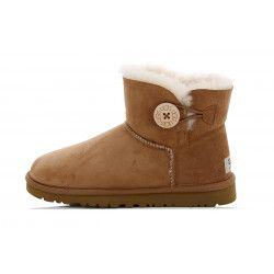 Botte UGG Mini Bailey Button 2 (Châtaigne)