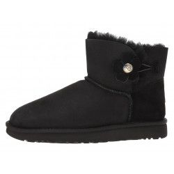 Bottine UGG Mini Bailey Button Poppy - MINIB-BUTTONPOPPY-BLACK