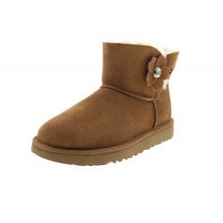 Bottine UGG Mini Bailey Button Poppy - MINIB-BUTTONPOPPY-CHES