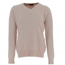 Real Cashmere Pull col V Real Cashmere - IDS1085002-ROSE