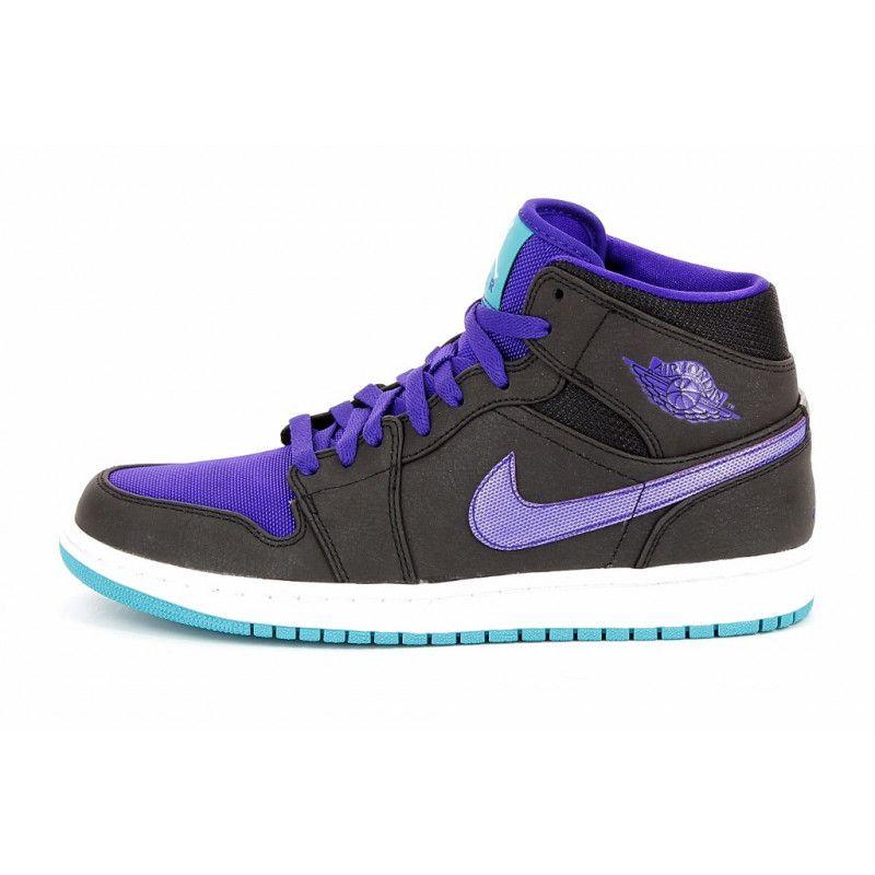 Nike Air Jordan 1 Mid - 554724-015 Noir - Chaussures Basket montante Homme