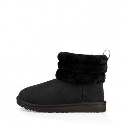 Botte Ugg FLUFF MINI QUILTED (Noir) - Ref. FLUFF-MINI-QUILTED