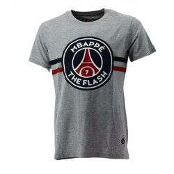 Tee-shirt PSG Justice League MBAPPE FLASH (Gris) - Ref. PSG-TEE-SHIRT-MBAPPE-FLAS