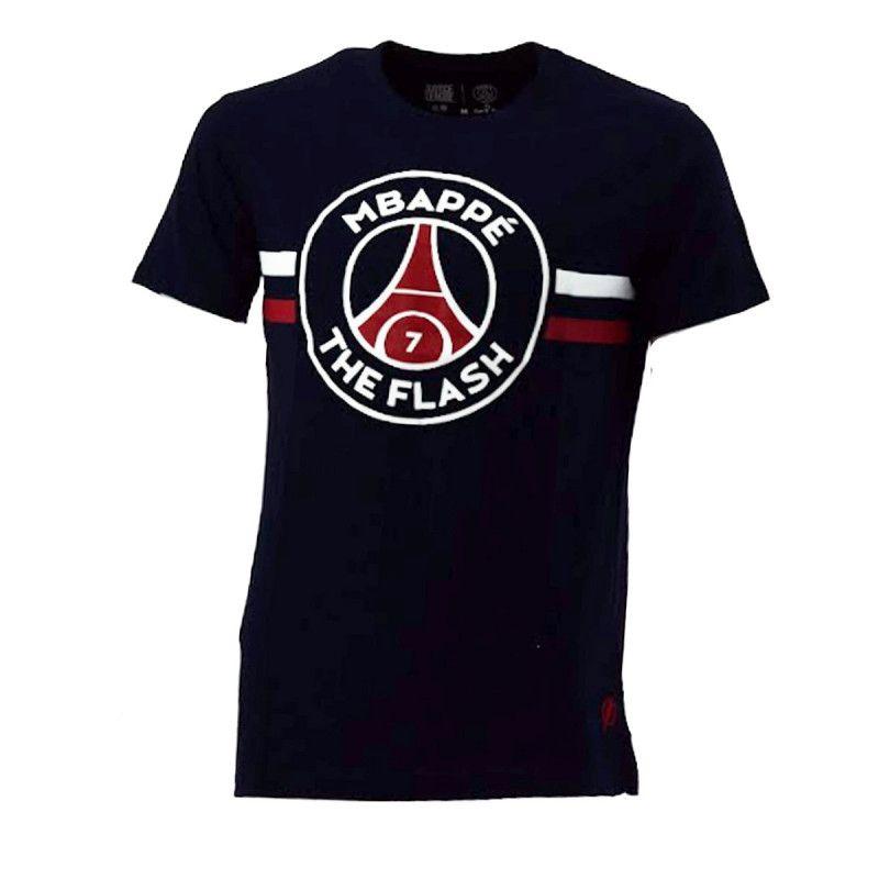 Tee-shirt PSG Justice League MBAPPE FLASH (Bleu) - Ref. PSG-TEE-SHIRT-MBAPPE-FLAS