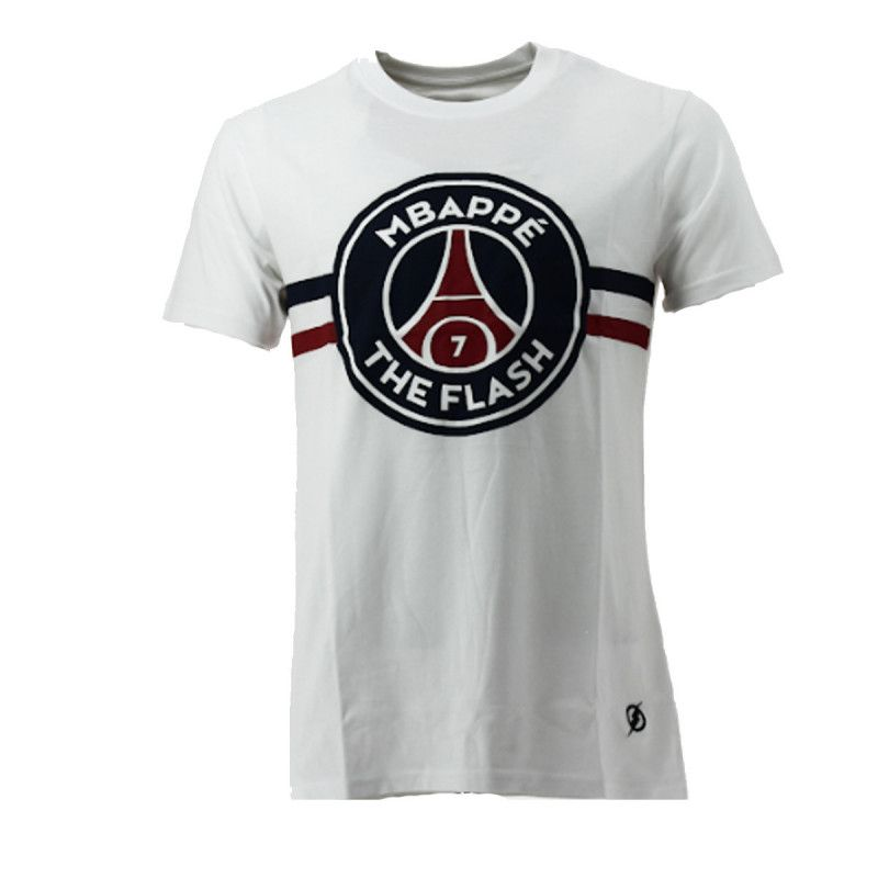 Tee-shirt PSG Justice League MBAPPE FLASH (Blanc) - Ref. PSG-TEE-SHIRT-MBAPPE-FLAS