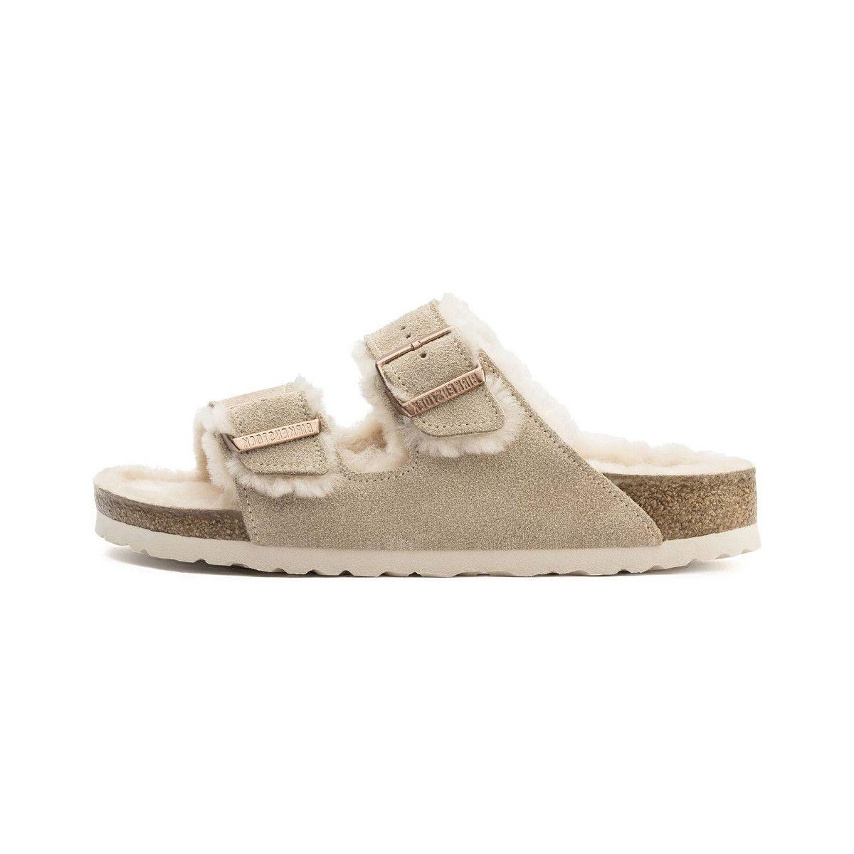 Sandale Birkenstock ARIZONA FUR MINK Pegashoes